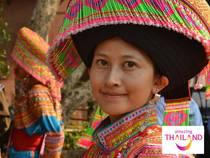 Rundreise Thailand Und Myanmar Kombinationsrundreise Im Fernen Osten Mit Logo Frau Lacht Bunte Kleidung Rundreise Erlebnisreisen